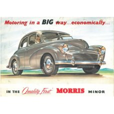 Morris Minor tin sign