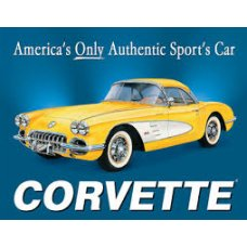 America's only Corvette tin sign
