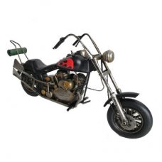 Black Motorbike with Red Flame