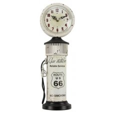 Clock Route 66 Petrol Bowser - White