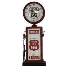 Clock Red Route 66 Bowser
