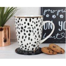 Dotty Dog Lady Mug & Coaster Set