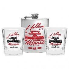 Holden  Monaro Flask &  Spirit Glass Set