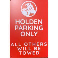 Holden Parking Tin Sign (Red)