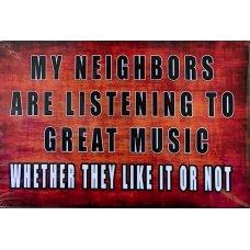 My Neighbours tin sign