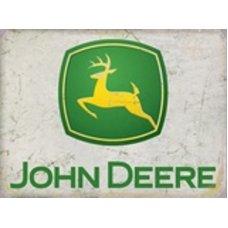 John Deere Rustic tin sign