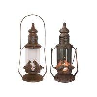Antique Hurricane Bird Lantern