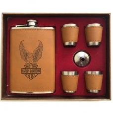 Harley Davidson Hip Flask Set