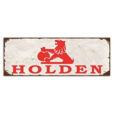 Holden Small rustic tin sign