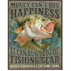 Fishing Happiness tin sign