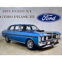 Ford 1971 XY GTHO Phase III Tin Sign