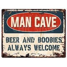 Beer and Boobies Tin Sign