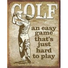 Golf an Easy Game