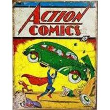 Action Comics tin sign