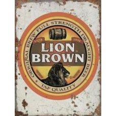 Lion Brown Rustic tin sign