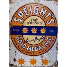 Speights Gold Rustic tin sign